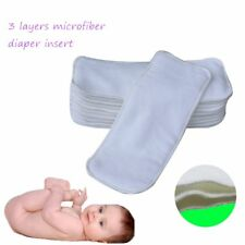 3 Layers Reusable Baby Inserts Liner for Washable Cloth Diaper Nappy Microfiber