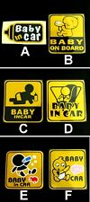 New Baby in Car / Baby on Board Safety Sign Auto Car Decal Sticker
