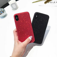Shining Silicone Rubber Glitter Shockproof Case Phone Cover for iPhone X 8 Plus