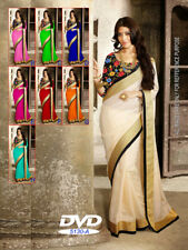 Indian Bollywood Style designer Saree wedding sari Traditional Wear ethnic 120