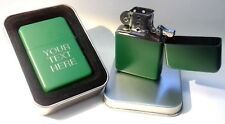 Engraved Green Personalised Lighter - Star Petrol boxed birthday wedding gift