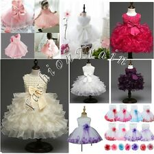 Flower Baby Girls Princess Kid Birthday Party Wedding Pageant Formal Tutu Dress