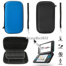 For Nintendo 2DS XL LL Dot Grain Carrying Case Bag Cover + Screen Protector Film