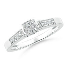 Diamond Wedding Ring 14k White Gold Engagement Anniversary Ring