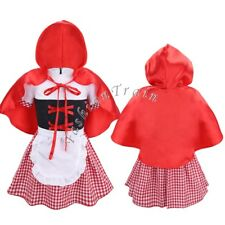 Halloween Baby Girls Red Riding Hood Fancy Dress Fairytale Storybook Outfit Set