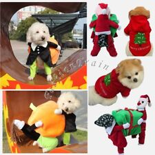 Cute Puppy Pet Dog Carrying Pumpkin Santa Claus Costume Fancy Jacket Coat Gifts