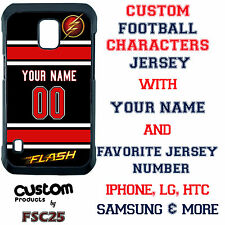 Custom The Flash Superhero Personalized Jersey Phone Case for iPhone Samsung LG