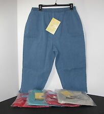 *NEW* Various Colors Denim & Co. Original Waist Stretch Capri Pants Size XL