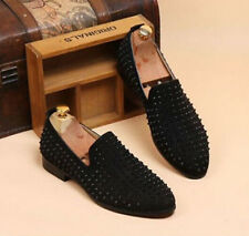 Mens Spike suede pointy Punk Studded Punk 2017 rivet Loafer Casual Dress Shoes