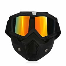 Motorcycle Full Face Mask Goggles Nose Helmet Shield Anti Fog Eyewear For Halley