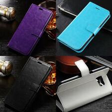 Leather Wallet iPhone 8 Plus Magnetic Flip Credit Card ID Case Cover Apple Slim