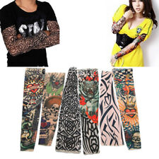 1pcs Fake Temporary Tattoo Nylon Stretchy Sleeve Arm Stocking Cool Costume, US