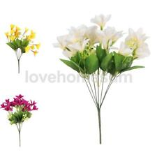 Artificial Silk Lilium Nanum Bouquet Flower Party Wedding Home Decor Lily