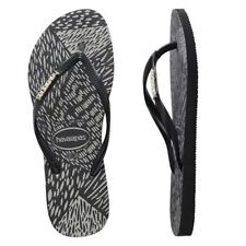 HAVAIANAS SLIM METAL LOGO ANIMALS BLACK/BLACK