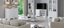 White Ash Living Room Collection - TV Units Sideboards Bookcase Display Cabinets
