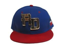 DOMINICAN REPUBLIC SNAP BACK CAPS RD 3-D GOLD METAL