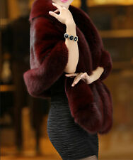 Hot Top Quality Sexy Winter Women's Coat Faux Mink Fox Fur Shawl Collars Jacket