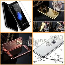360 Full Protection mirror view glossy case+Tempered Glass For iPhone 7/7Plus