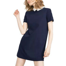 Women Peter Pan Collar office brief Dress vintage casual straight dress