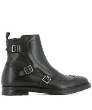 Alexander Mcqueen Men's 476211Whqp11000 Black Leather Ankle Boots