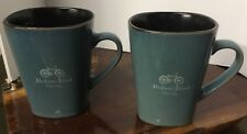 PAIR Vintage Souvenir Mackinac Island Cup Mug COFFEE BIKES ONLY CYCLING