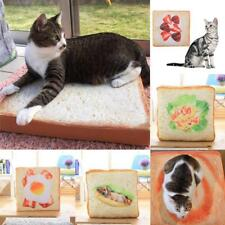 Fashion Cute Cartoon Seat Pad Cat Pet Cushion Plush Bread Toast Throw Pillow