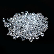 White Topaz Calibrated Round Faceted Natural Loose Gemstone Lot Free Shipping
