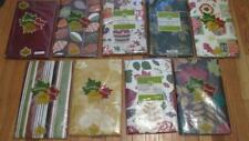 Vinyl Tablecloth Flannel Back Fall Thanksgiving 9 Styles Leaves Pumpkins NEW