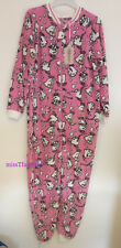 LADIES DISNEY BEAUTY AND THE BEAST CHIP ALL IN ONE SLEEPSUIT PYJAMAS 10 12 14 16