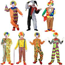 Circus Clown Costume Halloween Cosplay Role Play Adult Fancy Dress Mens Jumpsuit