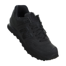"""Men's New Balance """"Triple Black"""" ML574BEX Athletic Fashion Casual Sneakers Suede"""