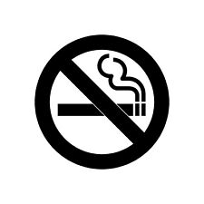4 Pack No Smoking Vinyl Sticker Sign/ Wall Decal Sticker Sign Self-Adhesive Wate
