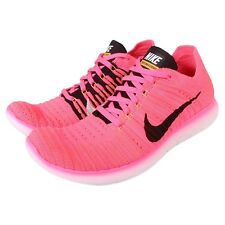 Nike Wmns Free RN Flyknit Run Pink Black Womens Running Shoes 831070-600