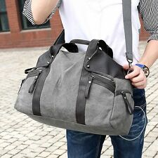 Mens Vintage Canvas  Briefcase Satchel Laptop Handbag Messenger Bag Free P&P