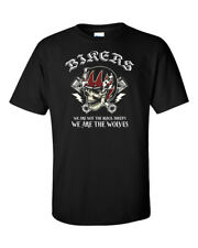 Outlaw Biker T-Shirt Motorcycle Club MC Men Riders Piston Skull Helmet Chopper