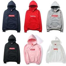 Hot 2017 Men's Hoodies SUPREME Hip Hop Hoodie Embroidered Cotton Sweater