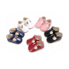 Infant Toddler Baby Girl Soft Non-slip Buckle Sole First Shoe Newborn 18M 5color