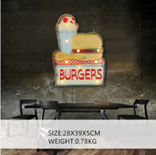BURGERS  LED Neon Signs Wall Hanging Sign