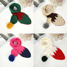 2-12 Years Girls Boys Warm Scarves Kids Christmas Knitted Scarf Neck Warmer 2017