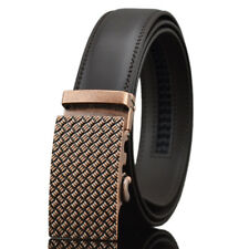 Brown Fashion Luxury Mens Belt Genuine Leather Automatic Buckle Waistband Strap