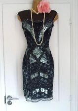 1920s Style Gatsby Flapper Charleston Beaded Sequin Dress Size 8/10 Small