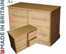 Solid Pine Filing Cabinet, 4 Drawer Contemporary A4 File Home Office Storage