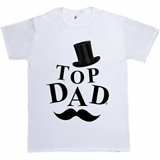 Top Hat Top Dad Gentlemans Moustache Fathers Day Gift Present Mens T-Shirt