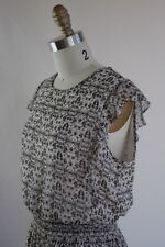 Womens Fully Lined Print Ruffle Sleeveless Dress Size Small