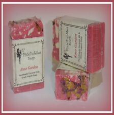 PixieBubbles Handmade Soap ROSE GARDEN Coconut Oil & Greek Yogurt Shea Butter