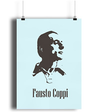 Fausto Coppi team bianchi  bicycle print illustration campagnolo c