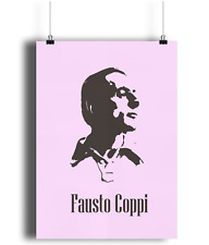 Fausto Coppi team bianchi  bicycle print illustration campagnolo pink