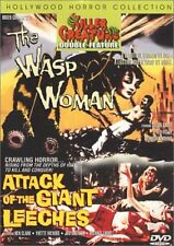 Wasp Woman - Attack Of Giant Leeches - DVD - Color Ntsc - Excellent Condition