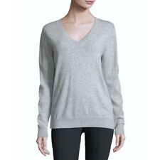 NWT Vince Gray V-Neck Cashmere Sweater - Steel Grey Heather Oversized New
