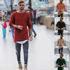 Casual Round Neck Fashion Men's Knit Sweater Pullover Knitwear Jumper Coat Tops